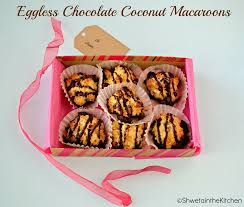 eggless chocolate coconut macaroons shweta in the kitchen