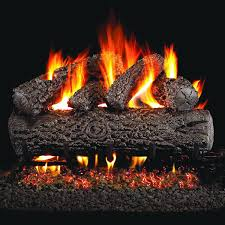 peterson real fyre 24 inch post oak gas log set with vented