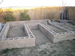 Concrete Block Garden Wall by Raised Bed Garden Sugar Sensitive Mama