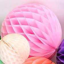 pink tissue paper light pink tissue paper honeycomb in 3 sizes pipii