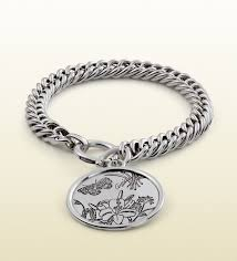 silver bracelet with pendant images Lyst gucci flora bracelet in sterling silver in metallic for men jpeg