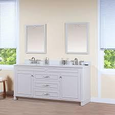Grey Bathroom Vanity by Maykke Abigail 72 Inch Bathroom Vanity Set In Birch Wood French