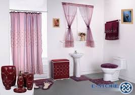 unique ideas bathroom shower and window curtain sets trendy