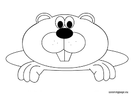 Groundhog Clipart Coloring Pencil And In Color Groundhog Clipart Groundhog Color Page