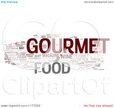 word for cuisine clipart of a gourmet food word collage on white royalty free cgi