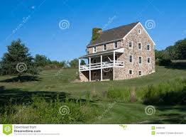 Three Story House by Colonial Stone Three Story Farm House Stock Photography Image