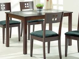 Square Wood Dining Tables Contemporary Wooden Dining Table With Square Glass Inserts Joliet