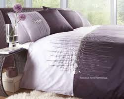 brilliant purple duvet quilt cover set sequin embroidered for