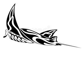 manta ray tribal tattoo stock photo image 19740780