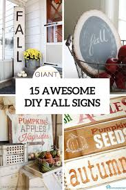 15 awesome diy fall signs for indoors and outdoors shelterness