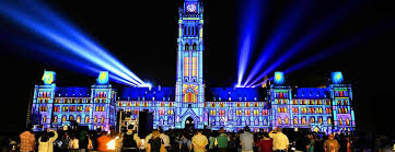 oh canada what a light show on parliament hill in ottawa