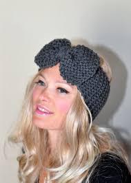 crochet hairband big bow ear warmer crochet headband turban wrap
