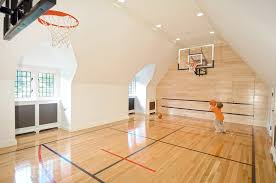 Basketball Courts With Lights Phoenix Indoor Basketball Courts Home Gym Mediterranean With