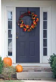 spectacular thanksgiving front door decorations on modern home