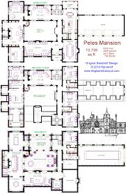floor plans mansions peles mansion floor plan