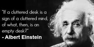 Cluttered Desk Albert Einstein Stephanie Luo Giraff28 Twitter
