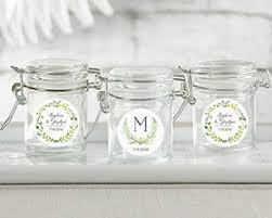 favor jars personalized glass favor jars botanical garden set of 12 my