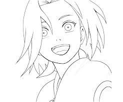 happy sakura naruto coloring pages printable naruto coloring