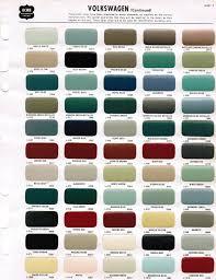 1968 acme vw paint color chips camp decor ideas pinterest
