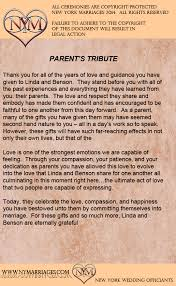 wording for wedding ceremony sle parent s tribute ceremony sle wedding ceremonies