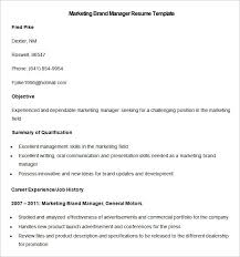 Brand Manager Resume Sample by Marketing Resume Template U2013 37 Free Samples Examples Format