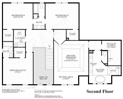 2nd Floor Plan Design Reserve At Medina The Harriet Home Design