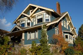 what shade of blue should you paint your house craftsman style