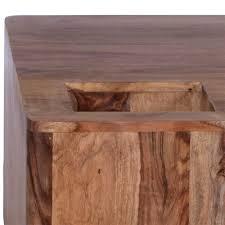 Wohnzimmertisch Holz Quadratisch Holzblock Couchtisch Nilianda Aus Sheesham Wohnen De