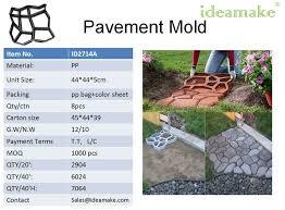 plastic concrete paving mold cobble paving block mould ornaments
