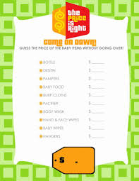 price is right ballot free printable baby shower games dinasour