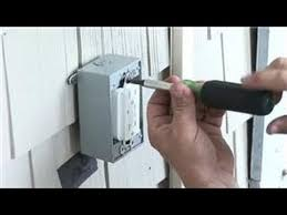 electrical help how to install a power receptacle outside youtube