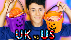 usa vs uk halloween candy basket youtube