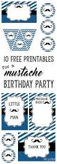 mustache party 10 free printables paper trail design