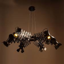 Retractable Ceiling Light Retro Iron Led Loft Cafe Bar Restaurant Bedroom Retractable