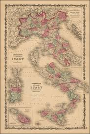 Map Of Northern Italy by Johnson U0027s Northern Italy And Southern Italy Kingdom Of Naples I