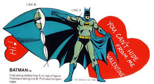batman valentines card golden memory is coming