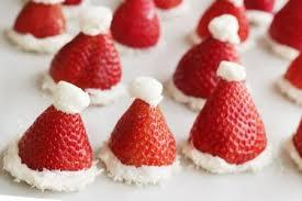 santa hats strawberry santa hats