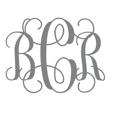 monogram wall decals for nursery vine monogram decal nursery decal initial wall decal college