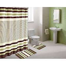 winry sage green striped 15 piece bathroom accessory set 2 bath