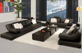 Marvelous Contemporary Leather Sofa Sets Houzz Contemporary - Contemporary leather sofas design