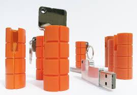 Rugged Flash Drives Lacie Ruggedkey Flash Drive Looks Like An Orange Hand Grenade