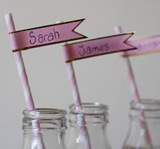 Wedding Flag Paper Flag Stickers For Paper Straws Pack Of 30 U2013 The Wedding Of
