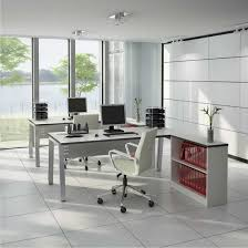 chic and sleek home office at corner living room idea modern