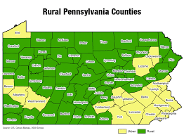 map of counties in pa rural pennsylvania counties the center for rural pa