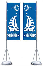 outdoor flags and banners one color printing tripole stand