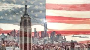 New Yorks Flag New York City With American Flag Stock Video Footage Videoblocks