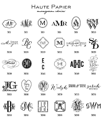 monogram stationery design your own personal stationery haute papier