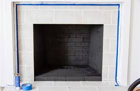 Trim Around Fireplace by Her Brick Fireplace Was An Eyesore So She Spread This Over The