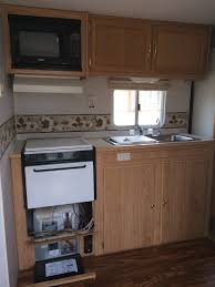 Rv Kitchen Cabinets Homes On Wheels 5 Travel Trailer Makeovers We Love Porch Advice