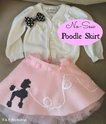 50s Halloween Costumes Poodle Skirts Sew Poodle Skirt Tutorial Poodle Skirts Poodle Tutorials